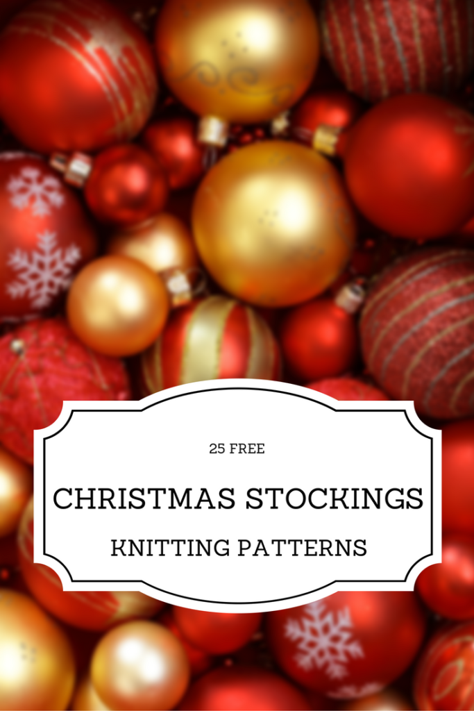 free knitting patterns for christmas stockings