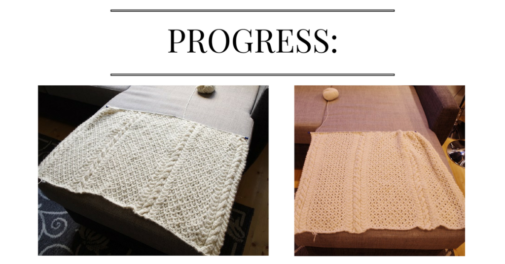 progress with christmas comforter little changes