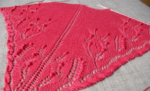 Spring Shawl - lace knitting challenge