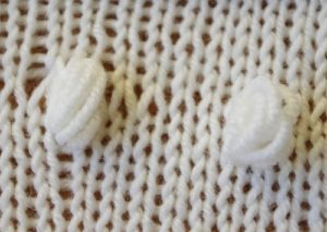 Knitting Nupp Stitch - Technique #2 - Knitting Together On Next Row
