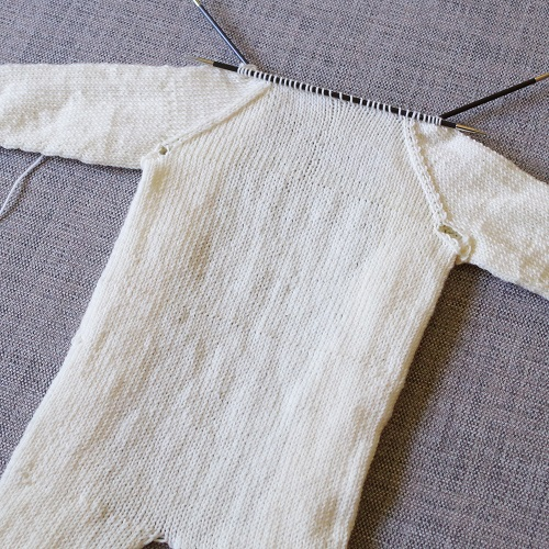 knitted baby jumpsuit
