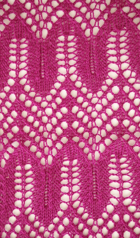 Wave stitch knitting pattern