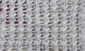 How to make two gathered stitches aka 2 stitches from 2