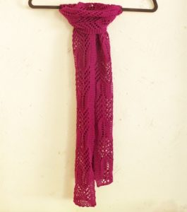 The Wavy Scarf free lace knitting pattern