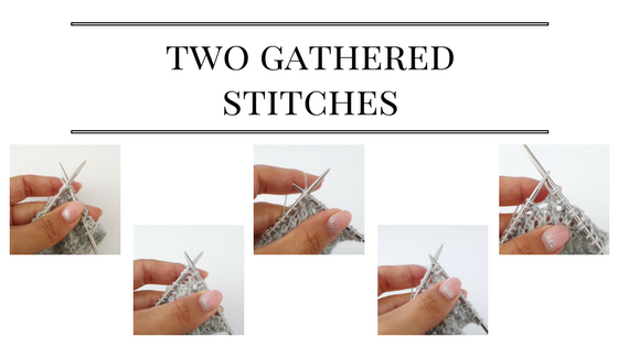 How to make two gathered stitches