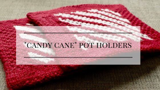 """Candy Cane"" pot holders knitting pattern"