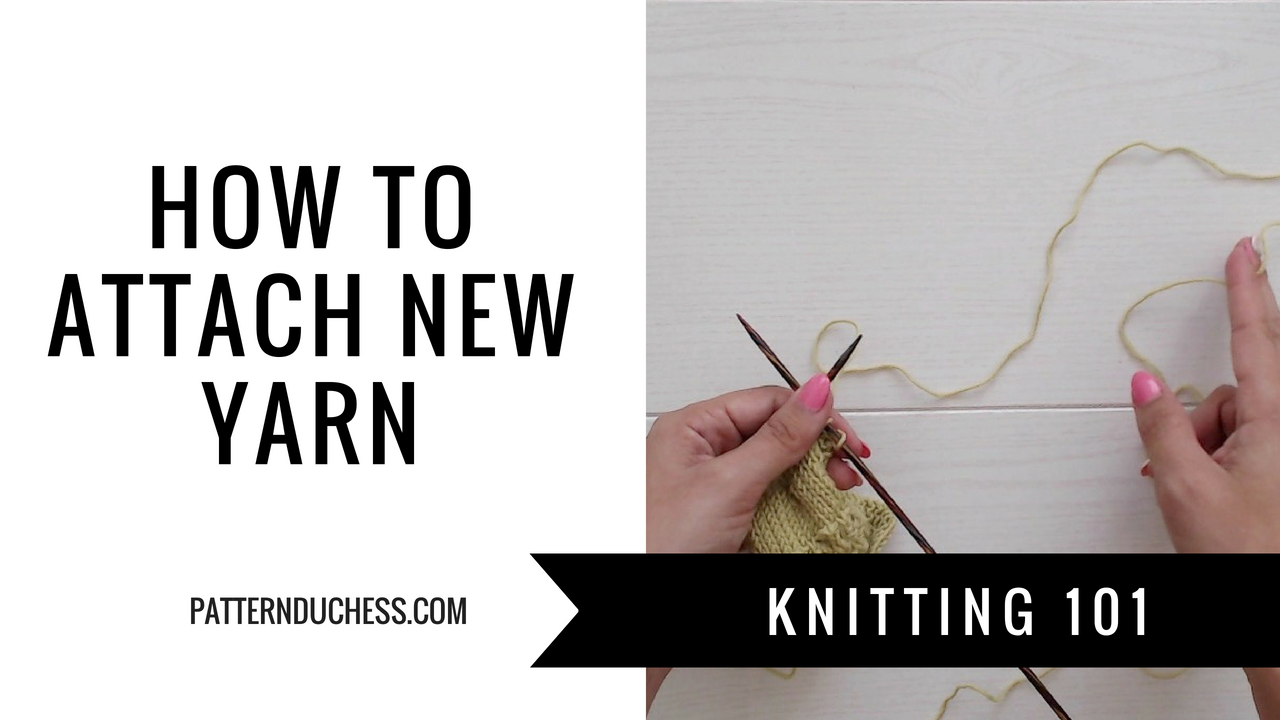 Joining new yarn in lace knitting